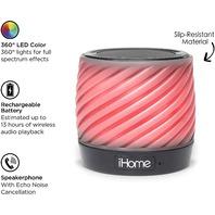 Ihome Color Changing Bluetooth Portable Speaker Speakerphone IBT50