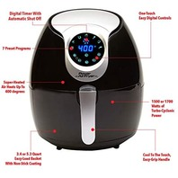Power Air Fryer Xl 5.3 Quart Digital Settings Crispy Food Healthier Eating
