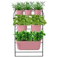 Watex WX060 Green Wall-Mounted Salmon Rose Vertical Planter Kit