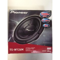 "Pioneer Ts-W126m 12"" Subwoofer, Impp Cone With Vccs, 1,300-Watt Max Power"