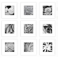 13x13 White frame set 9 pieces
