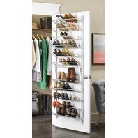 Whitmor Over-The-Door Shoe Rack, 36-Pair, White