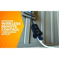 Woods Outdoor Indoor Wireless Remote Control Outlet Kit, Black