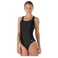 Speedo Big Girls' Pro Lt Youth Superpro Swimsuit, Black, 12