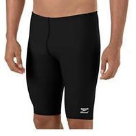 Speedo Big Boys' Endurance Swimsuit, Black, 10