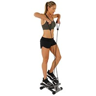 Sunny Health & Fitness 012S Mini Stepper With Resistance Bands