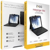"ZAGG Messenger FolioNon-Backlit Bluetooth Keyboard iPad 10.5"" - Black"