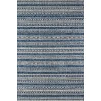 """Novogratz Villa Collection Tuscany Indoor/Outdoor Area Rug, 6'7"""" X 9'6"""", Blue"""