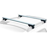 "CargoLoc 2-Piece 60"" Aluminum Roof Top Cross Bar Set – Fits Maximum 55"" Span"