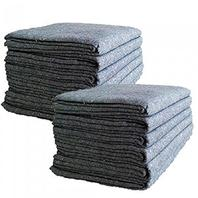 """Uboxes Textile Moving Blankets (6 Pack) Professional Quality Moving Skins 54"""" X 72"""" Pads, Grey"""