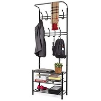 Homfa Fashion Heavy Duty Garment Rack With Shelves 3-tier Shoes Rack, Coat 4ti
