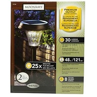 Moonrays 91754 Richmond-Style Premium Output Solar Powered Metal LED Path Light