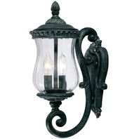 Alico Lighting 1171ST Acclaim Lighting Stone Finished Outdoor Sconce with Clear Melon Water Seeded Glass Shades