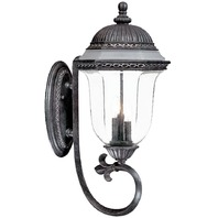 Alico Lighting 1321ST Acclaim Lighting Stone Finished Outdoor Sconce with Clear Seeded/Frosted Glass Shades