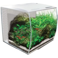FL FLEX 9 Gal. Glass Aquarium Kit White
