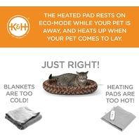 "K H Pet Products 16"" X 22"" Thermo-Kitty Fashion Splash, Large, Mocha"