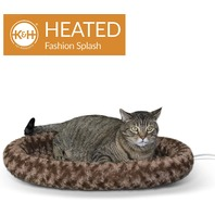 "K H Pet Products 16"" X 22"" Thermo-Kitty Fashion Splash, Large, Mocha"