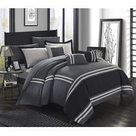 Chic Home Zarah 10 Piece Comforter Set Queen Grey