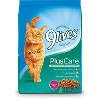 9Lives Plus Care Dry Cat Food, 12 lb