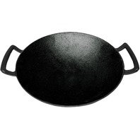 Backcountry Iron's Cast Iron Wok For Stir Frys And Sautees 14 Inch Large