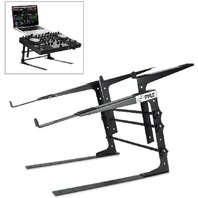 PYLEUniversal Dual Device Laptop Stand, Sound Equipment DJ Mixing Workstation
