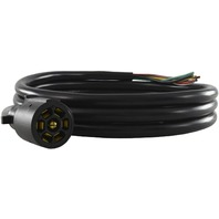 Conntek [10110-300]ROJ Black 7 Way Plug Inline Trailer Cord (25-Feet)