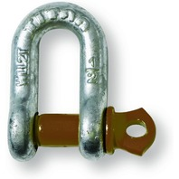 "Titan ""D"" Type Anchor Shackle 1 1/8-Inch Hot Dip Galvanized w Screw Pin, 9.5 Ton"