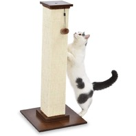 Premium Tall Cat Scratching Post - 16 x 35 x 16 Inches, Wood