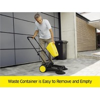 Karcher S650 Outdoor Push Sweeper, Patio & Driveway Cleaner, Yellow/Black