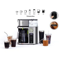 Braun Multiserve Coffee Machine, 7 Programmable Brew Sizes Stainless Steel