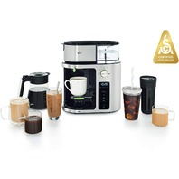 Braun Multiserve Coffee Machine, 7 Programmable Brew Sizes Stainless Steel