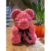 Rose Flower Bear - Trendiees Fully Assembled 16 Inch Hugz Teddy Bear - (pink)