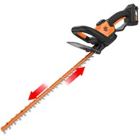 "Worx  20v Power Share 22"" Cordless Hedge Trimmer, Battery And Charger Included"
