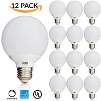 12 Pack -- 6w Dimmable G25 Globe Led Bulb, (= 40w) Vanity Light, Daylight