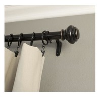 1-Inch 36 to 72-Inch, Single Window Treatment Rod Set, Antique Bronze