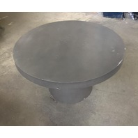 "Outdoor Modern Concrete Round Accent Table - Dark Grey 16"" tall, 28"" diameter"