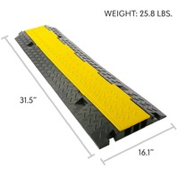 Pyle Durable Cable Protective Ramp Cover PCBLCO106