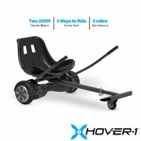 Hover-1 All-Star Hoverboard & Go-Kart Attachment Combo, Black