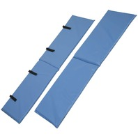 DMI Bed Rail Bumper Pad 60 x 15 x 0.5, 2 Covers, Rails not included, Blue
