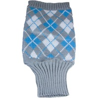 X-Large, Argyle Turtleneck Sweater, Light Gray
