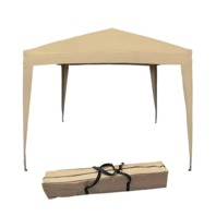 Gravitti 10' x 10' Pop-up Gazebo with carry bag. Green, Red, Beige