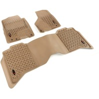 Tan Front And Rear Floor Liner Kit For  Dodge Ram, Ram 1500, 2500 And 3500