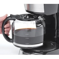 Betty Crocker Bc-2809cb 12-Cup Coffee Maker With Digital Screen, Stainless Steel