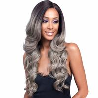 Bobbi Boss Lace Front Wig Mlf224 Keeshana (Tt6/Steel)