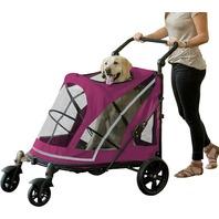 Pet Gear No-Zip Stroller, Push Button Zipperless Dual Entry