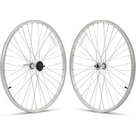 """Firmstrong 3-Speed Beach Cruiser Bicycle Wheelset, Front/Rear, Black, 26"""""""