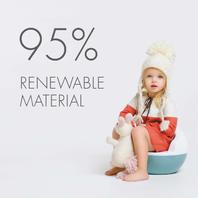 Eco by Naty Clean Potty, Made of Sugarcane and Includes 10 Flushable Liners