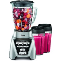 Oster Blstmb-Cbg2-033 1200 Blender With 2 Smoothie Cups, Nickel