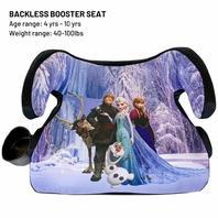 Kids Embrace Backless Booster Car Seat, Disney Frozen, Blue, Pink, Sage/Silver
