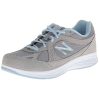 New Balance Women's Ww877 Walking Shoe,Silver,9 2e Us